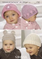 Sirdar Snuggly 4ply - 1742 Hats Knitting Pattern